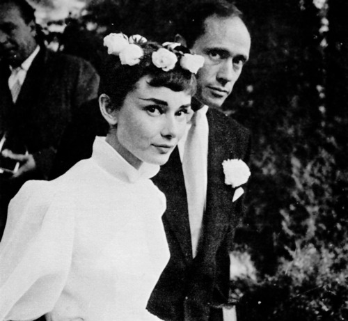 Mel Ferrer and Audrey Hepburn's Wedding