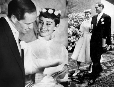 Mel Ferrer and Audrey Hepburn's Wedding
