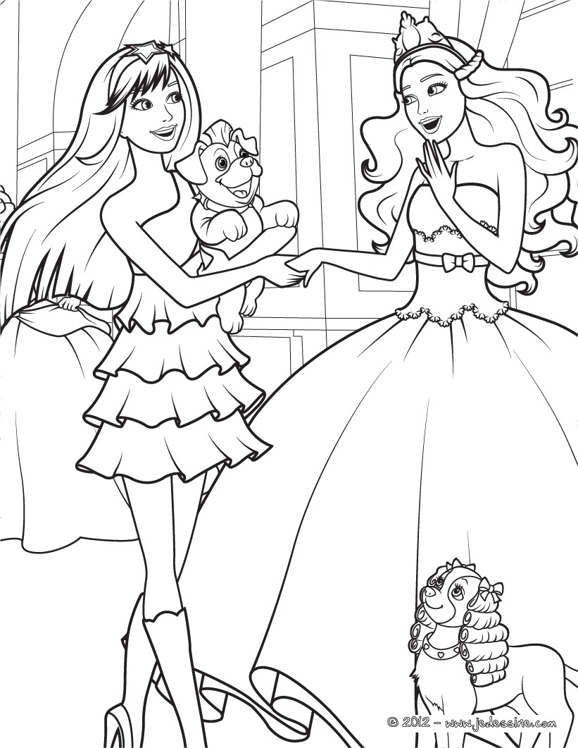 Barbie dreamhouse coloring pages