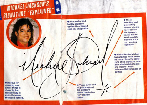 Michael Jacksons signature analysed
