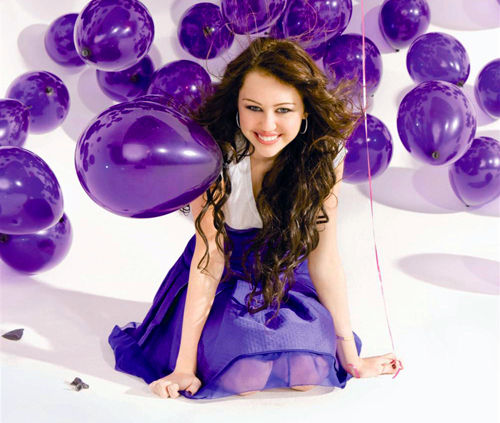 Celebrity Contests wallpaper probably containing a meteorological balloon titled Miley Cyrus ~ Breakout photoshoot