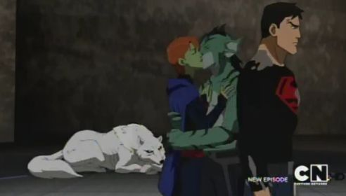 Miss Martian and Lagoon Boy kiss!