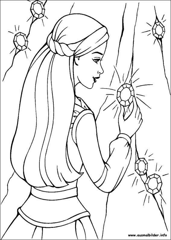 barbie unicorn coloring pages - photo#30