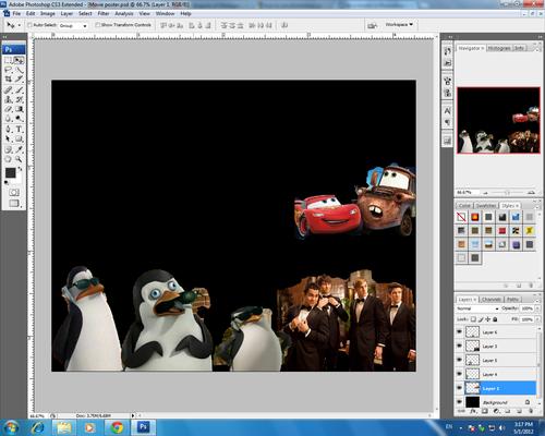 Movie poster in progress