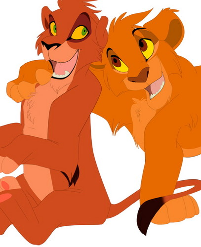 the lion king wallpaper entitled Mufasa and Taka