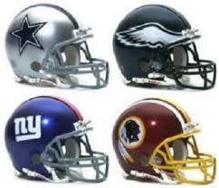 NFL 壁紙 containing a football ヘルメット and a face guard called NFC East Helmets