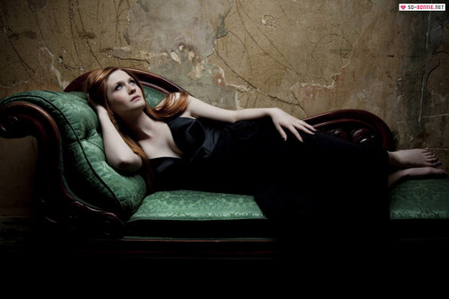 Bonnie Wright wallpaper probably containing bare legs, a family room, and a business suit called New Empire Magazine Outtakes [2011- Photographed by Sara Dunn]