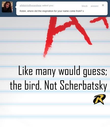 Not Scherbatsky.....