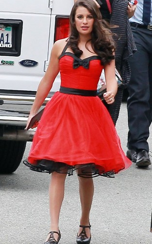 On set of Glee filming Nationals - glee Photo