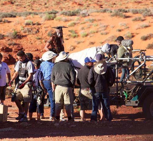 On the set of the lone ranger