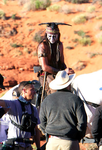 On the set of the lone ranger - johnny-depp Photo