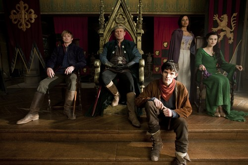 Partial Group Shot - Season 2 - merlin-on-bbc Photo