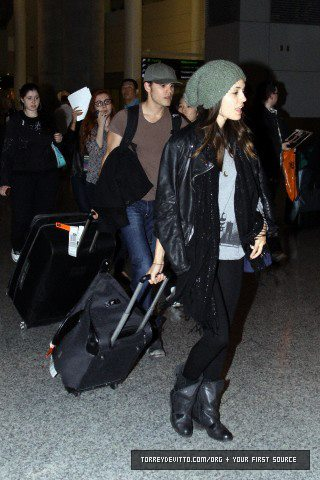 Paul & Torrey at PI Airport in Toronto, Canada(13-14 April 2012)