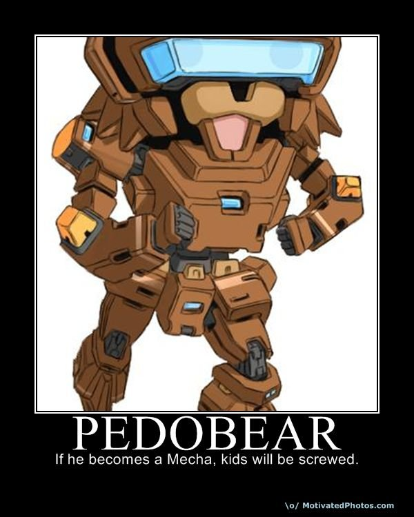 pedo bear Mecha Pedo Bear