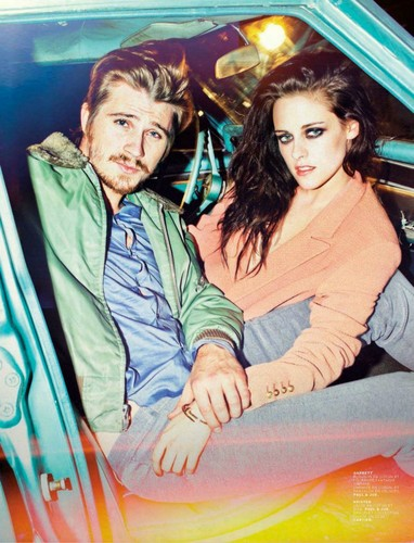 Kristen Stewart wallpaper containing anime titled Photoshoot for Jelouse magazine (with Garrett Hedlund)