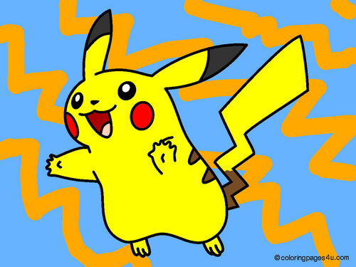 Pikacu coloring page I colored