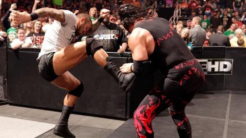 Randy Orton attacks Kane