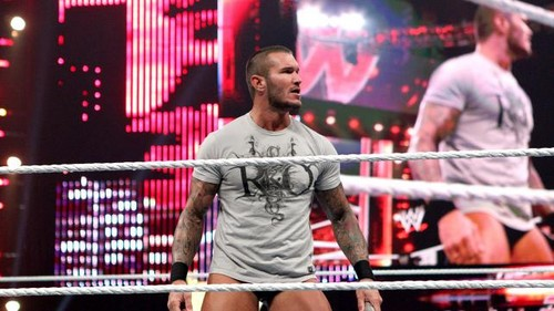 Randy Orton attacks Kane