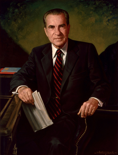 The Presidents of The United States 壁纸 containing a business suit titled Richard Nixon