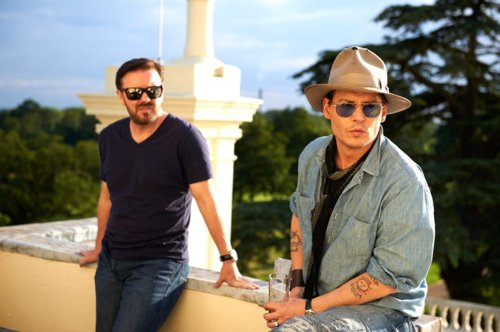 Ricky Gervais and Johnny Depp