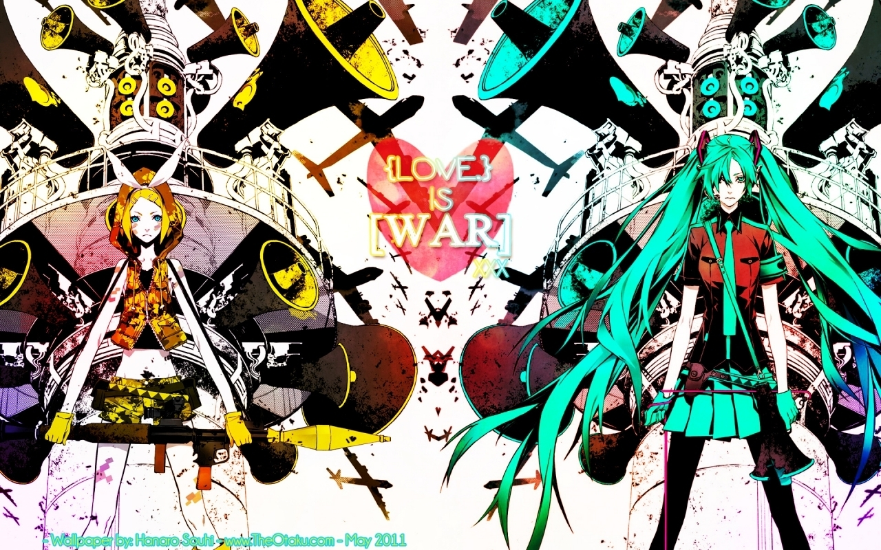 vocaloid super club images Rin and Miku Love is War HD ...