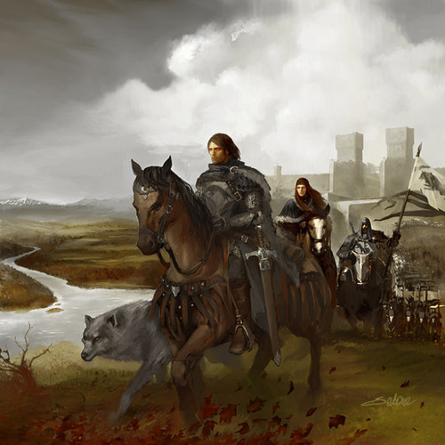 House Stark wallpaper probably with a horse wrangler, a rifleman, and a green beret titled Robb Stark