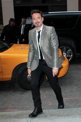 Robert Downey Jr. Leaving The Trump Soho Hotel
