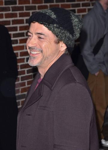 Robert Downey Jr. Visits 'Letterman'