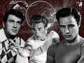 Rock, James, Marlon - james-dean fan art