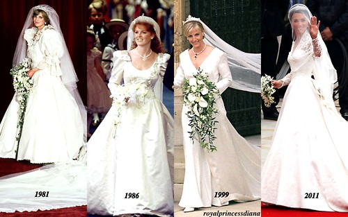 Royal Wedding dresses over the years