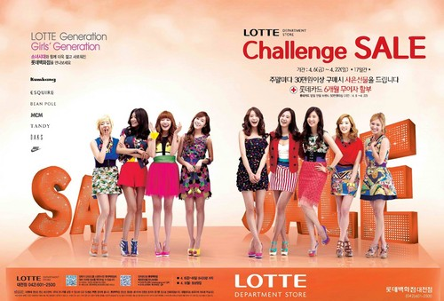 SNSD @ Lotte Department Store
