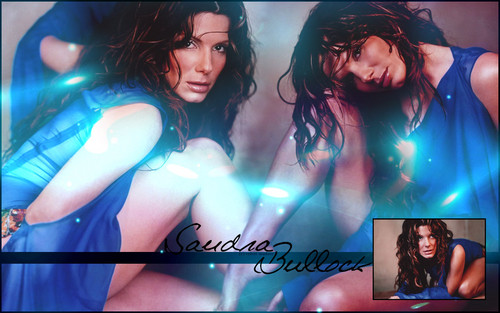 Sandra Bullock wallpaper possibly containing a swimsuit and a portrait called Sandra Bullock
