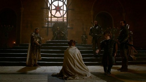 Sansa with Joffrey and Tyrion