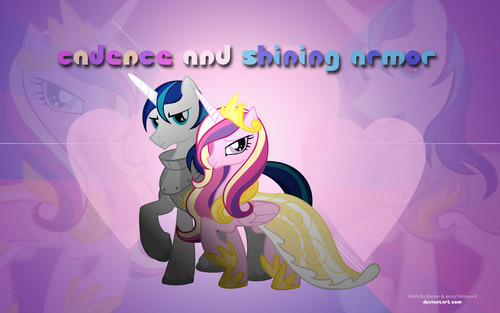 Shining Armor (and somepony else) Wallpaper!!!