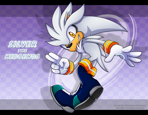 Silver the Hedgehog wallpaper possibly containing Anime called Silver