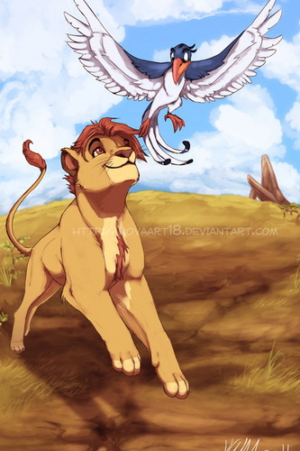 The Lion King wallpaper with anime called Simba and Zazu