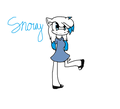 Snowy the hedgehog.:Request:. - sonic-fan-characters