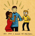 Space Booty - spock-and-uhura fan art