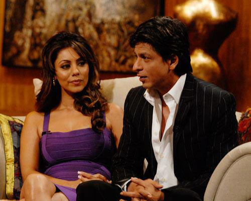 Srk and his be<3d wife Gauri