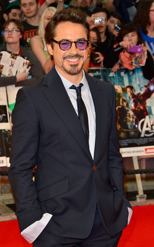 Stars at the Premiere of 'The Avengers' in London