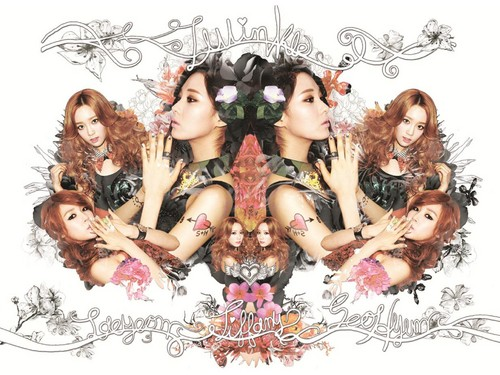 S♥NEISM wallpaper possibly with anime called Taeyeon Tiffany Seohyun @ Twinkle Mini Album Digital Booklet