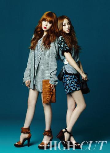 Taeyeon & Tiffany for High Cut