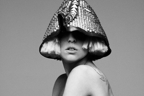 Lady Gaga wallpaper probably containing a bonnet entitled The Fame Monster Photoshoot Outtakes by Hedi Slimane