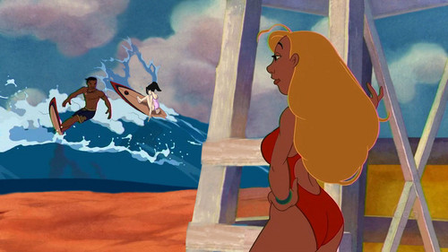 disney crossover achtergrond titled The Lonely Life of a Lifeguard
