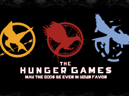 Hunger Games fond d'écran with a sign entitled The MockingJay Symbols