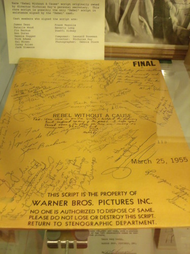 The script of East of Eden signed by the cast.
