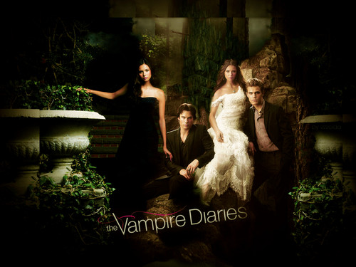 ヴァンパイア・ダイアリーズ 壁紙 containing a bridesmaid, a ディナー dress, and a ガウン called TheVampireDiaries!