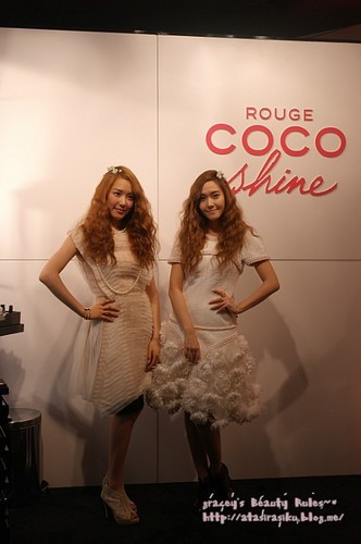 S♥NEISM wallpaper containing a cocktail dress called Tiffany &Jessica @ Chanel Store Event
