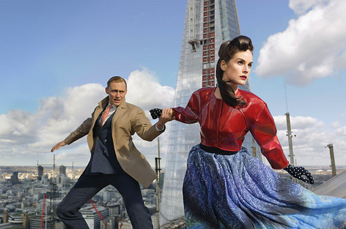 Tom Hiddleston and Michelle Dockery in 런던 <3