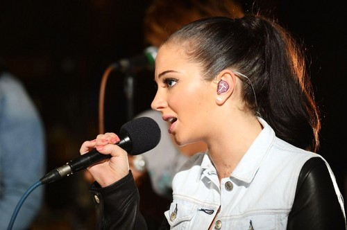 Tulisa in the Radio 1 Live Lounge